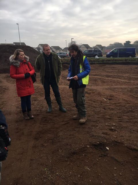 Graeme visiting the archaeological dig site in Carnoustie