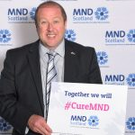 Graeme showing his support for MND Scotland