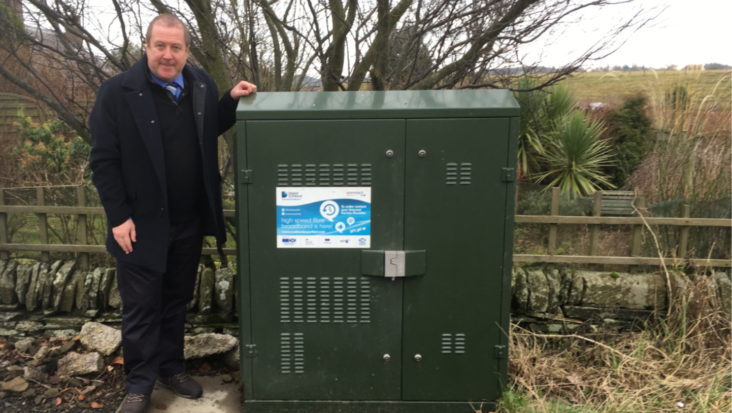 MSP Welcomes Fibre Broadband's Arrival In Cortachy