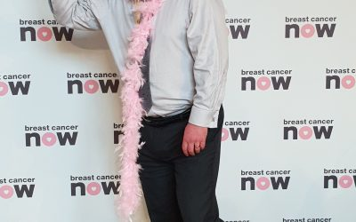 GRAEME DEY MSP STANDS PROUD IN PINK FOR BREAST CANCER NOW