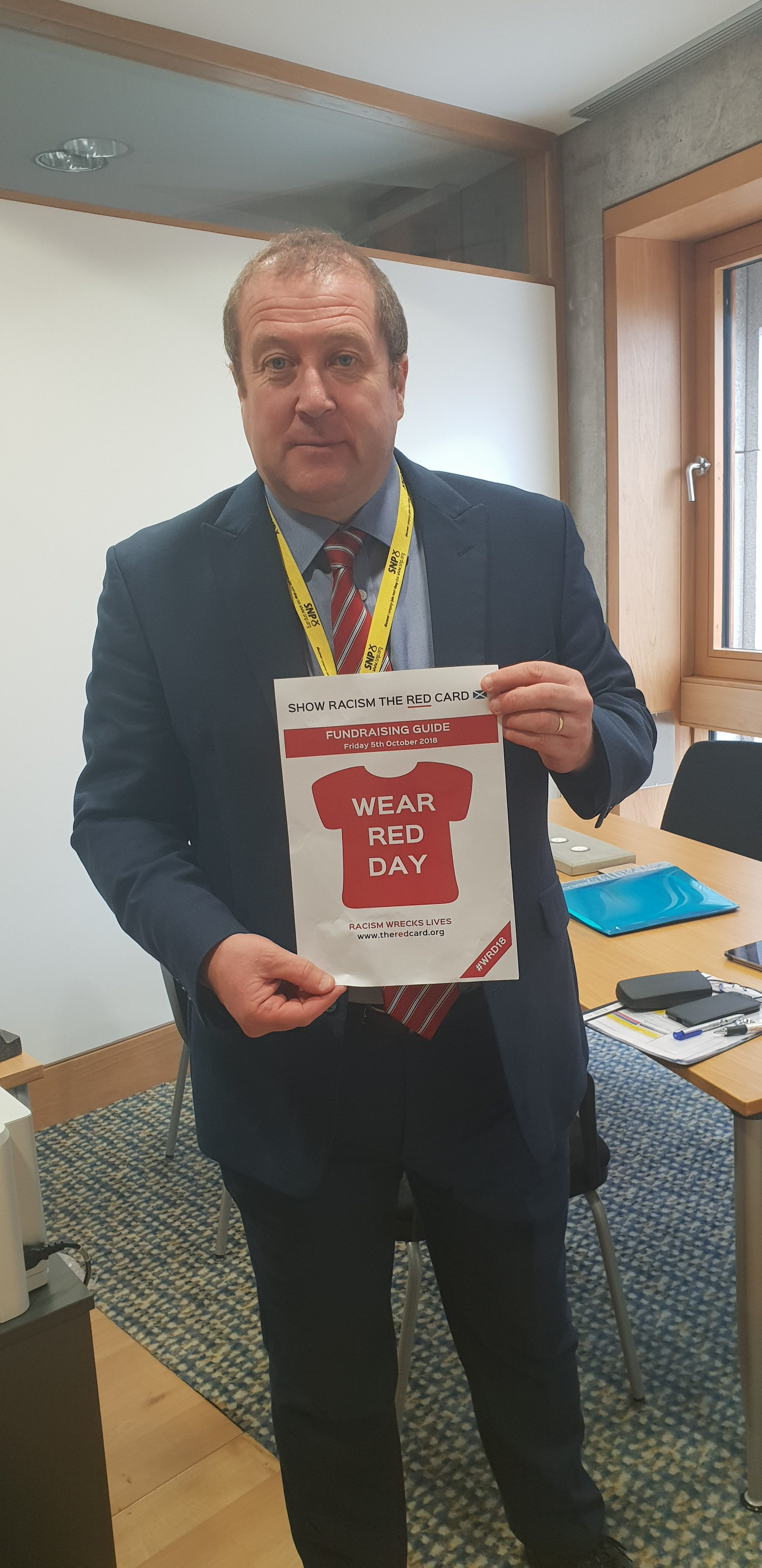 GRAEME DEY MSP PROUD TO SUPPORT 'WEAR RED DAY 2018'