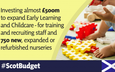 SNP PLANS TO INVEST £500 MILLION IN HISTORIC CHILDCARE