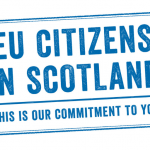 Stay in Scotland - stamp - Twitter