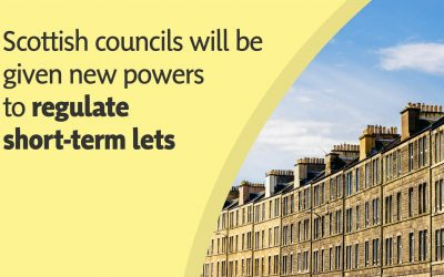 MSP WELCOMES PLAN TO REGULATE SHORT-TERM LETS