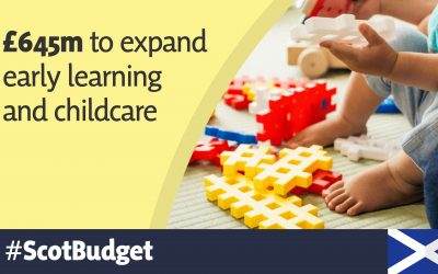 MSP WELCOMES £645M CHILDCARE EXPANSION PLANS