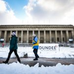 The Courier and The Evening Telegraph, CR0026598, News, Snowy weather continues for Dundee with more snowfall overnight resulting in traffic disruption and persistant snow showers. Picture shows; heavy snow in Dundee's City Centre. Tuesday 9th February, 2021.  Mhairi Edwards/DCT Media