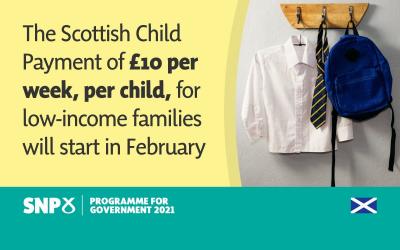 New Scottish Child Payment Begins