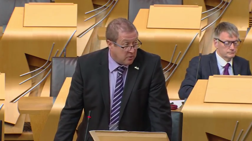 Question to the Finance Secretary on Scotland