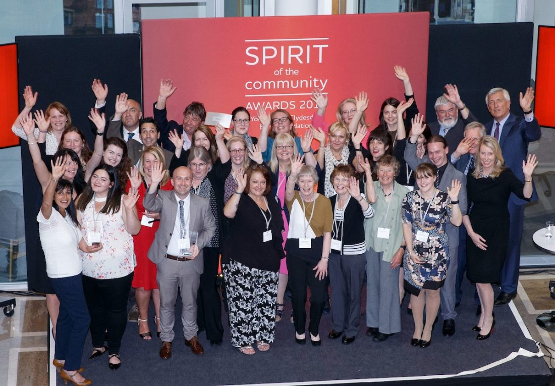 The Clydesdale Bank Spirit of the Community Awards 2018 is Open for Applications