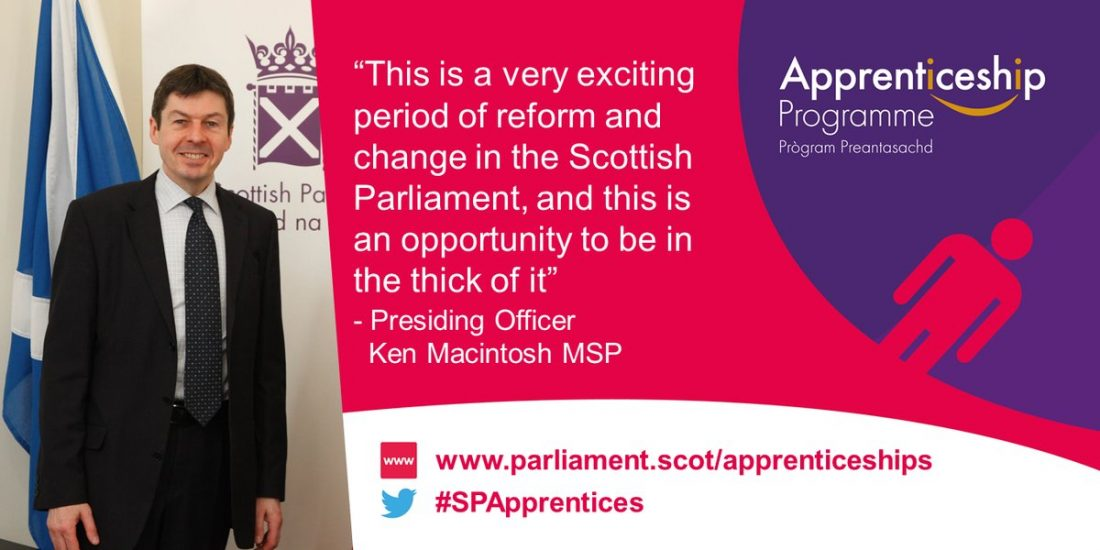 Scottish Parliament Apprenticeship Programme