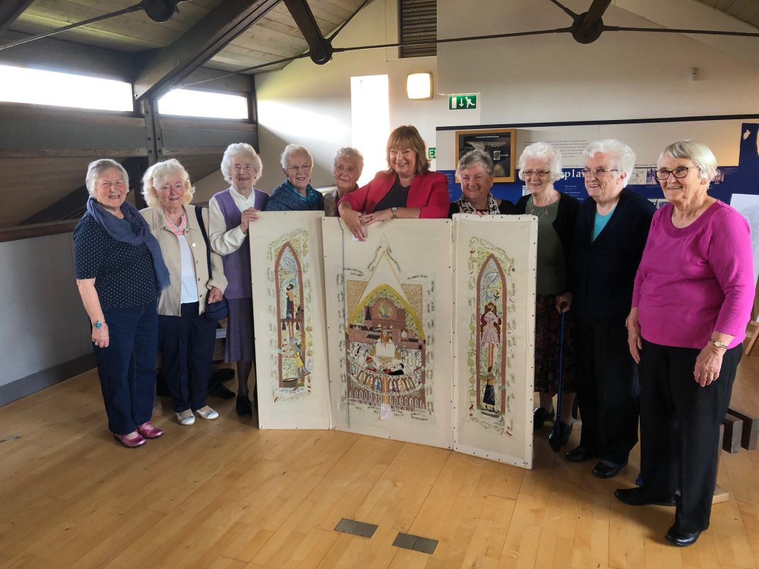 MSP Welcomes Culture Secretary on Visit to View Arbroath 2020 Tapestry