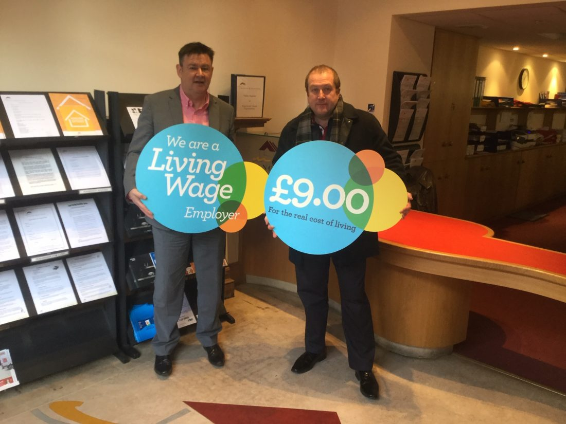 GRAEME DEY MSP MARKS LIVING WAGE WEEK 2018 WITH ANGUS HOUSING ASSOCIATION