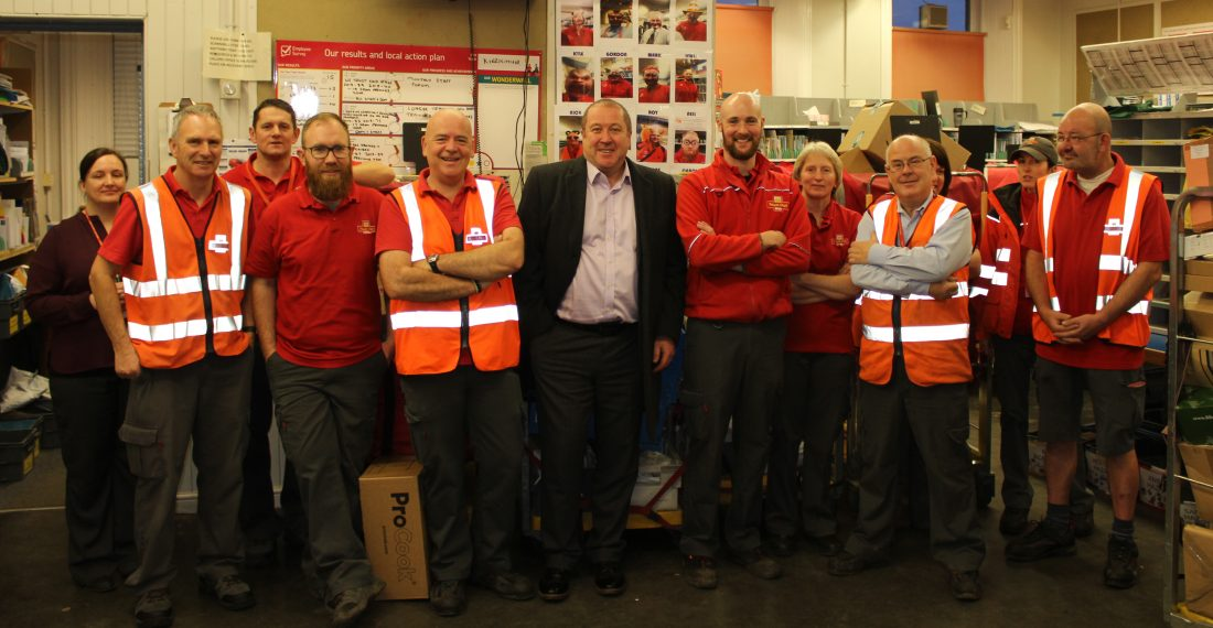 MSP THANKS LOCAL POSTMEN AND WOMEN AS THEY DELIVER A FIRST CLASS CHRISTMAS