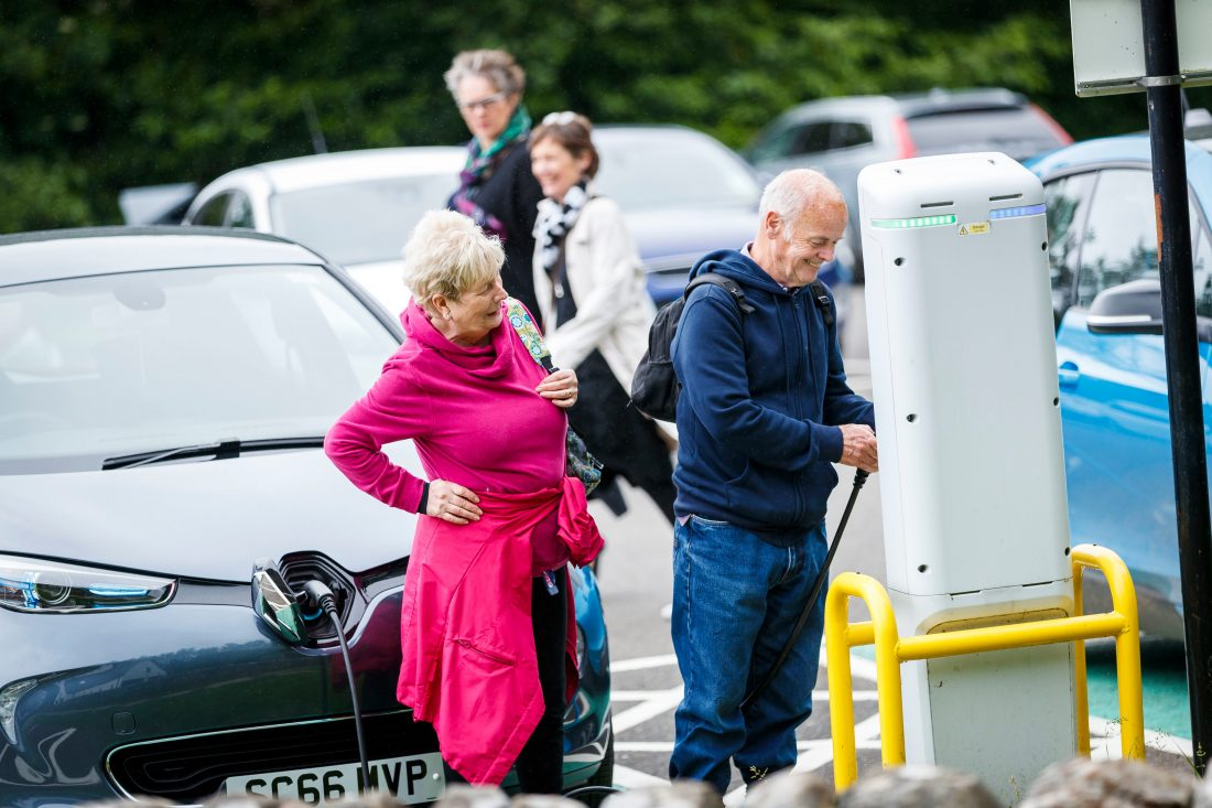 MSP WELCOMES ELECTRIC CAR CHARGE POINT MILESTONE