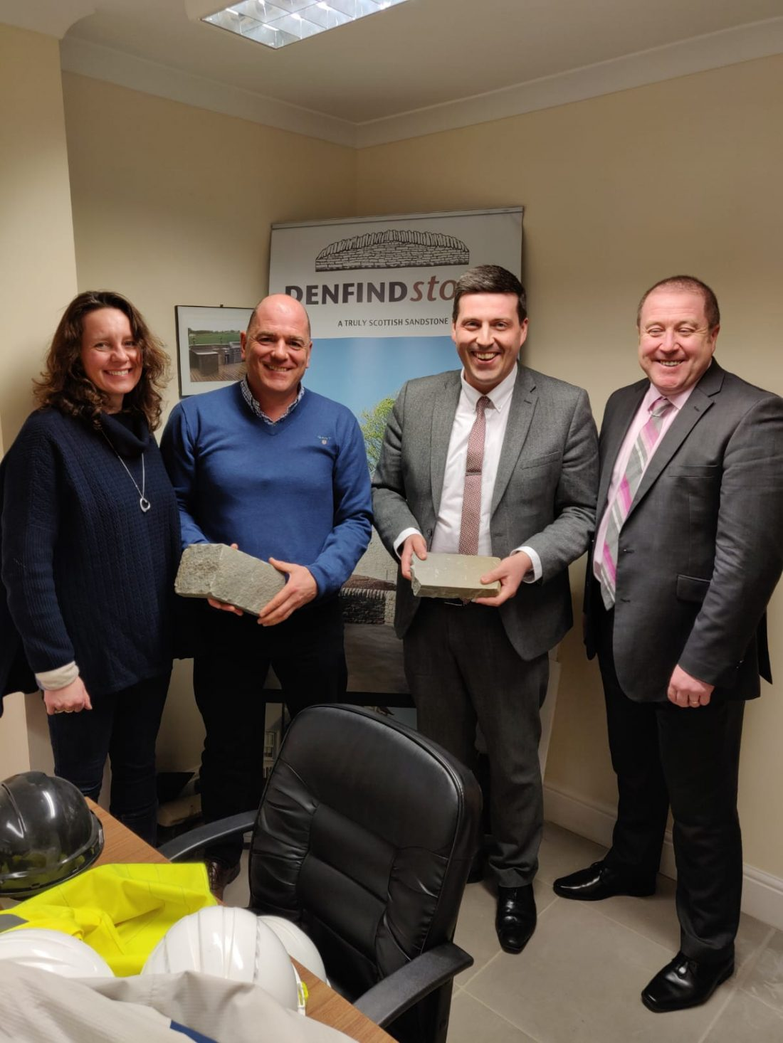 MSP & BUSINESS MINISTER VISIT MONIKIE STONE SUPPLIER