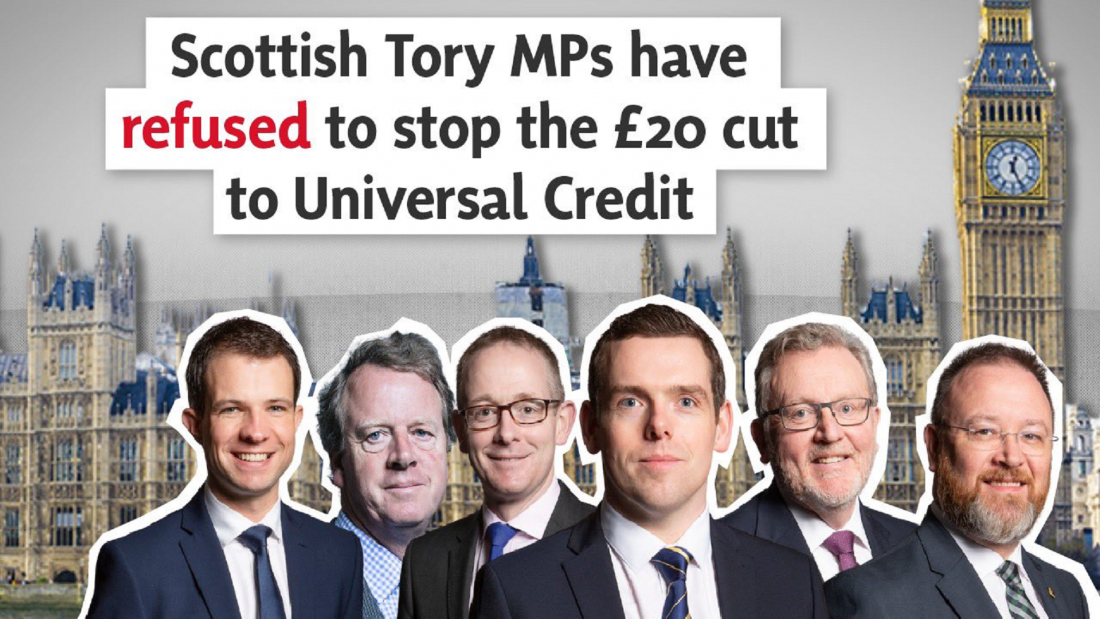 No Scottish Tories Oppose Universal Credit Cut