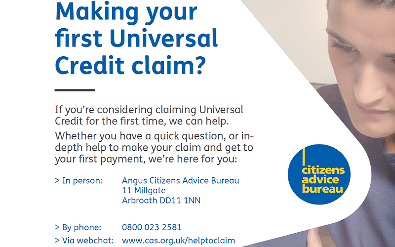 Universal Credit - Support to Claim provided by Angus Council Welfare Rights Service